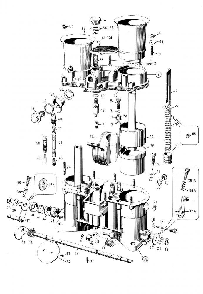 48IDA Weber Exploded View