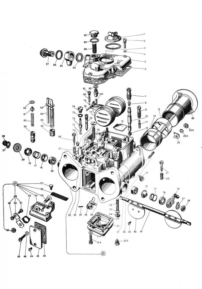 DCOE Weber Exploded View