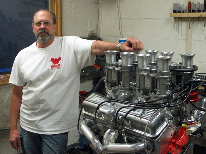 Jim Inglese with Engine